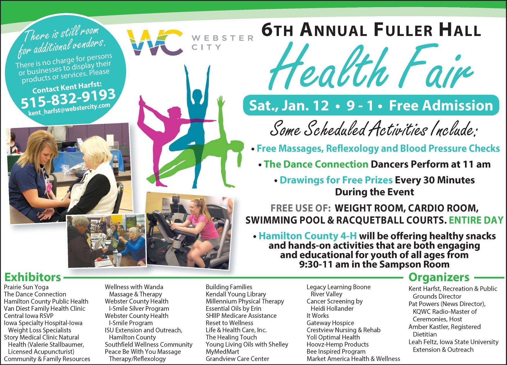 6th Annual Fuller Hall Health Fair @ Fuller Hall Recreation Center | Webster City | Iowa | United States